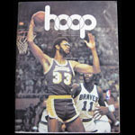 1973 Warriors vs Lakers NBA Hoop Magazine Basketball Program
