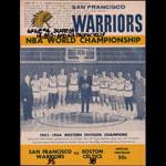 1963-64 Warriors vs Celtics NBA World Championship Game 4 Basketball Program