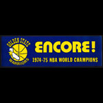 Golden State Warriors 1974/75 Champions Sticker