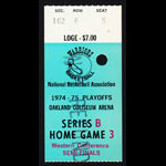 Golden State Warriors 1975 NBA Playoff Ticket VTG Oakland - Rick Barry Basketball Ticket