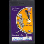 Grateful Dead New Year's Eve 1991-1992 Crew Pass Laminate