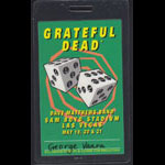 Grateful Dead 1995 Las Vegas Crew Pass Laminate