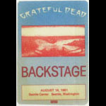 Grateful Dead 8/14/1981 Seattle Backstage Pass