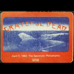 Grateful Dead 4/5/1982 Philadelphia Backstage Pass