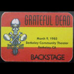 Rick Griffin Grateful Dead 3/9/1985 Berkeley CA Backstage Pass
