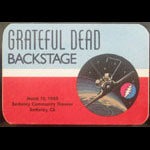 Grateful Dead 3/10/1985 Berkeley CA Backstage Pass