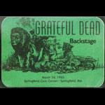 Grateful Dead 3/24/1985 Springfield MA Backstage Pass