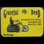 Grateful Dead 3/25/1985 Springfield MA Backstage Pass