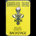 Rick Griffin Grateful Dead 4/6/1985 Philadelphia Backstage Pass