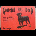 Grateful Dead 4/14/1985 Irvine CA Backstage Pass
