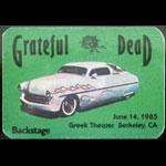 Grateful Dead 6/14/1985 Berkeley CA Backstage Pass