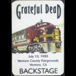 Grateful Dead 7/13/1985 Ventura CA Backstage Pass