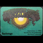 Rick Griffin  Grateful Dead 9/7/1985 Denver Backstage Pass
