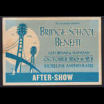 Bill Graham Presents 15th Annual Bridge School Benefit After-Show Backstage Pass