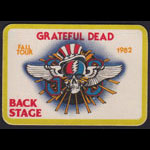 Rick Griffin Grateful Dead 1982 Fall Tour Backstage Pass