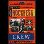 Rockfest 2000 Crew Laminate