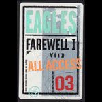 Eagles Farewell I Tour 2003 All Access Backstage Pass