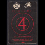 Foreigner Collector's Commemorative #5 Backstage Pass