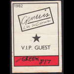 Genesis VIP Guest Backstage Pass