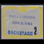 Hagar Schon Aaronson Shrieve (HSAS) Backstage Pass