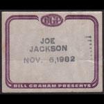 Joe Jackson Backstage Pass
