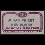 Judas Priest Backstage Pass