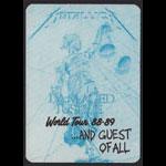 Metallica Damaged Justice World Tour 1988-89 Guest Backstage Pass
