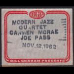 Modern Jazz Quartet Carmen McRae Joe Pass Backstage Pass