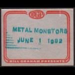 Metal Monsters Motorhead Backstage Pass