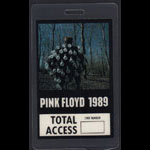 Pink Floyd 1989 Tour Total Access Backstage Pass