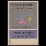 Robert Plant Principle of Moments Tour Backstage Pass
