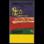 REO Speedwagon Live As We Know It Tour 1987 Guest Backstage Pass