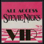 Stevie Nicks 1989 Tour VIP All Access Backstage Pass