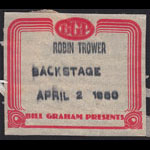 Robin Trower Backstage Pass