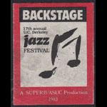 17th Annual U.C. Berkeley Jazz Festival 1983 Backstage Pass