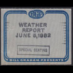 Weather Report Backstage Pass