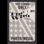 The Who 1989 Photo/Media Backstage Pass
