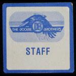 Doobie Brothers Farewell Tour 1982 Staff Backstage Pass