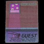 Rickie Lee Jones Street Of Dreams 1984/85 Guest Backstage Pass