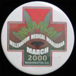 Millennium Medical Marijuana March 2000 Washington D.C. Button Pin
