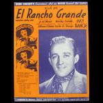 Bing Crosby El Rancho Grande Sheet Music