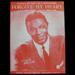 Nat King Cole 1955 Forgive My Heart Sheet Music