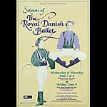 The Royal Danish Ballet Bill Graham Presents Poster BGP32