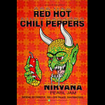 Red Hot Chili Peppers, Nirvana, Pearl Jam Bill Graham Presents Poster BGP51