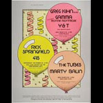 Arlene Owseichik Bill Graham Presents Greg Kihn Ronnie Montrose Rick Springfield The Tubes New Year's Eve Poster
