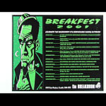 Justin Hampton Breakfest 2001 featuring UK Subs Poster
