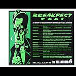Justin Hampton Breakfest 2001 featuring UK Subs Poster