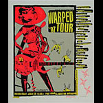 Glenn Barr Vans Warped Tour 97 Blink-182 Poster - signed