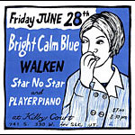 Leia Bell Bright Calm Blue Poster