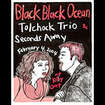 Leia Bell Black Black Ocean Poster